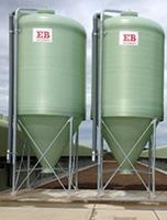 fibreglass centre discharge silos