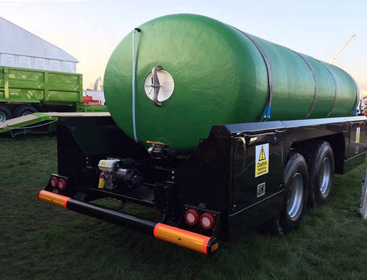 Fixed Trailer Mounted Transit Tank - HM Trailers