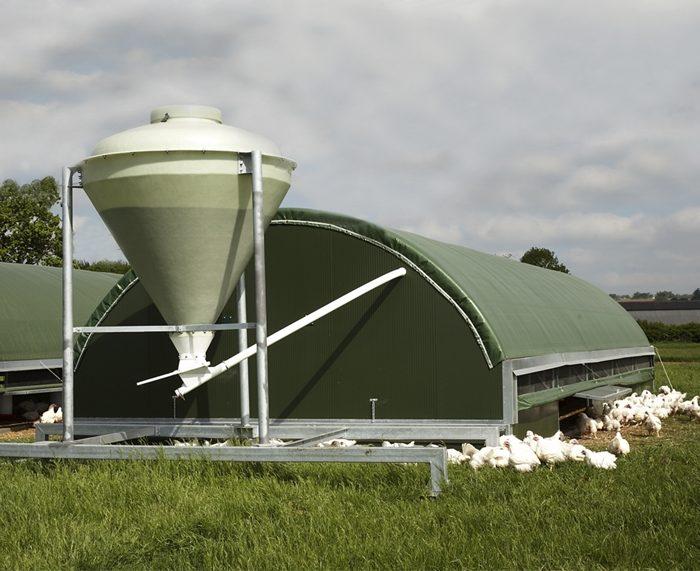 Overhead Broiler Feeding System