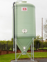 fibreglass centre discharge silo
