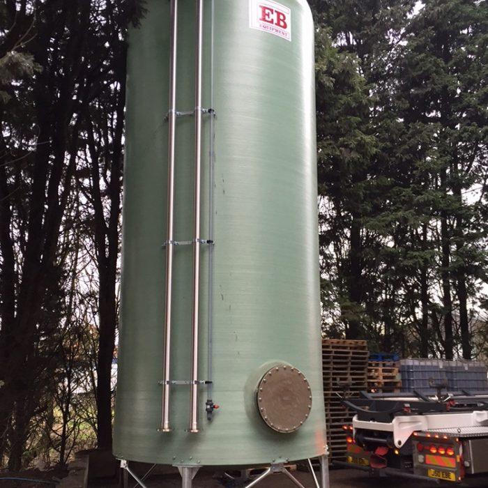 40m³ Dish Bottom Tank