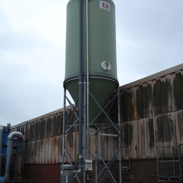 Heavy Duty High Level Discharge Silo with Pressure Release Valve