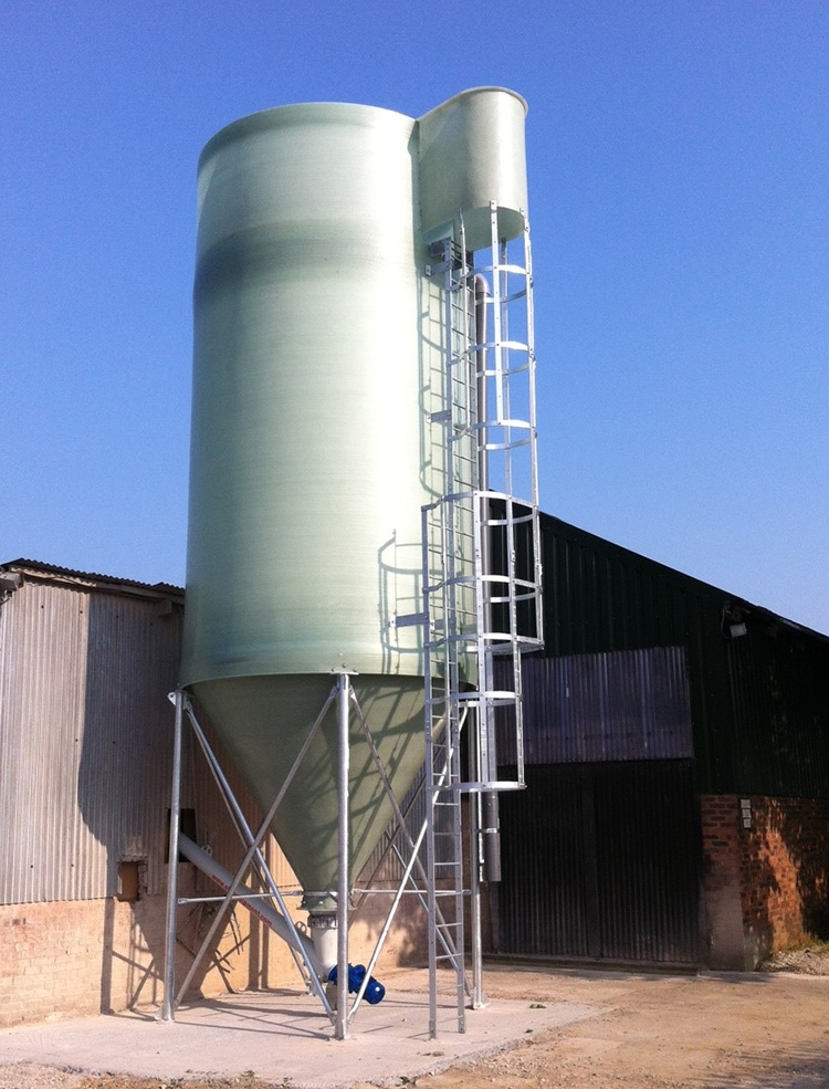 50m³ Heavy Duty Silo including Access Ladders